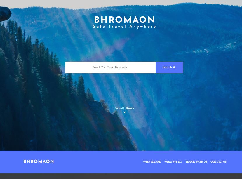 Screenshot of Bhromaon Project